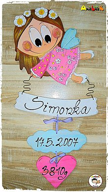 Tabuľky - Anjelik - dievča - 8743116_