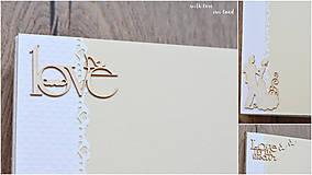 Papiernictvo - Svadobný fotoalbum - s bielou stuhou - 8744295_