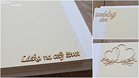 Papiernictvo - Svadobný fotoalbum - s bielou stuhou - 8744297_
