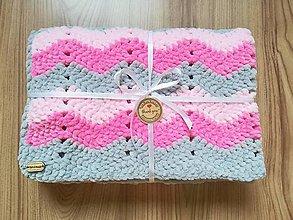 Textil - Háčkovaná detská deka nielen do kočíka - 8739957_