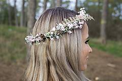 Ozdoby do vlasov - Kvetinový venček ,,zimný,, - 8744309_