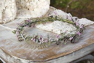 Ozdoby do vlasov - Kvetinový venček ,,zimný,, - 8744305_