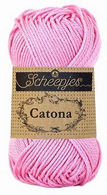 Galantéria - Catona - Ružová - č. 222 (25 g) - 8740778_