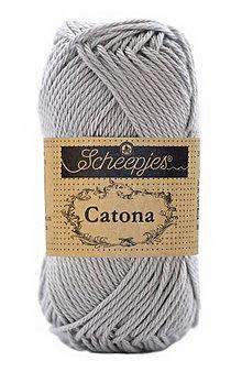 Galantéria - Catona - Šedá - č.074 ( 25 g) - 8740817_