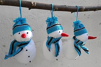 Dekorácie - Snehuliačik modrý - 8741438_