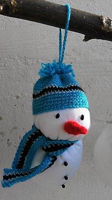 Dekorácie - Snehuliačik modrý - 8741440_