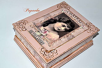 Krabičky - Romantická vintage šperkovnica - 8738869_