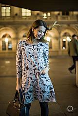 Tehotenské oblečenie - Šedé úpletové šaty - 8743011_