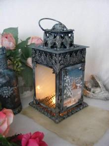 Svietidlá a sviečky - Vintage lampáš ... - 8739376_