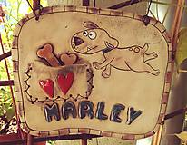 Keramická tabuľka s menom psíka