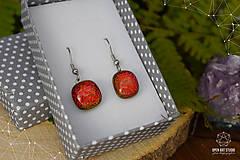 Náušnice - Oranžovo - červené jesenné