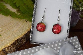 Náušnice - Oranžovo - červené jesenné \