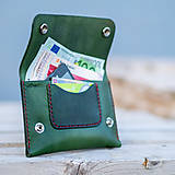 Peňaženky - Kožená peňaženka - Easy ... Zelená - 8741425_