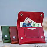 Peňaženky - Kožená peňaženka - Easy ... Zelená - 8741432_