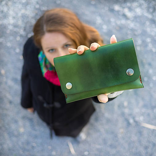 Kožená peňaženka - Easy ... Zelená