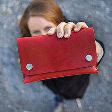 Peňaženky - Kožená peňaženka - Easy ... červená - 8741361_