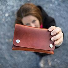 Peňaženky - Kožená peňaženka - Easy ... karamelová - 8741410_