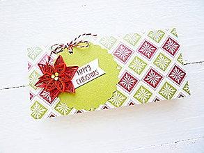 Papiernictvo - vianočná darčeková obálka - 8743938_