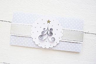 Papiernictvo - vianočná darčeková obálka - 8743965_