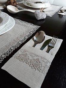 Úžitkový textil - Ľanové puzdro na príbor Linen Ecstasy - 8742664_