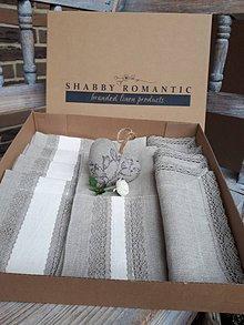 Úžitkový textil - Darčeková sada Vanilla Dream Lin - 8742994_