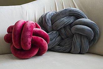 Úžitkový textil - Pletený vankúš - 8742720_