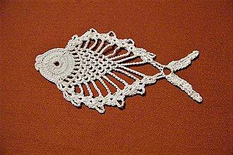 Dekorácie - Háčkovaná rybka 2 - 8743670_