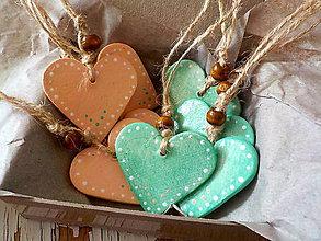 Dekorácie - AKCIA! Pastelové Vianoce - sada ozdôbok 8ks - 8743251_