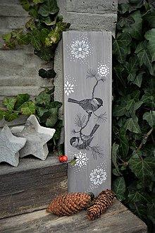 Tabuľky - Tabuľka so zimným motívom - 8742974_