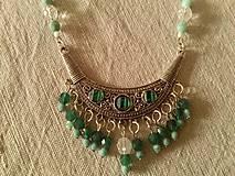 Sady šperkov - zelenkastá súpravka - 8749278_