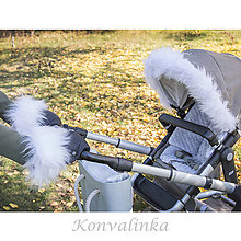 Textil - Zimné sety na kočík s kožušinkou - 8745125_