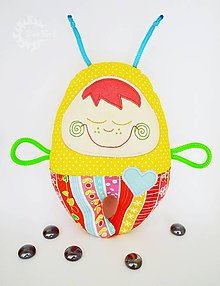 Hračky - Vesmírny chrobáčik slnečný, letný - hrkálka - 8744671_