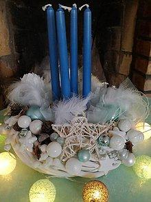 Dekorácie - Adventný vianočný veniec - 8745741_