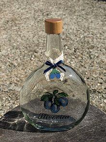 Darčeky pre svadobčanov - Stužky na fľaše so slivkami - 8749574_
