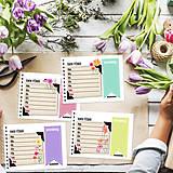 Papiernictvo - Kalendár do vrecka - KVETY - 8748216_