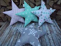 Detské doplnky - vankúš hviezda - 8746221_