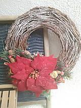 Dekorácie - Vianočný veniec -  zasnežený - 8745785_
