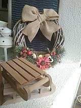Dekorácie - Prútený vianočný veniec - 8745819_