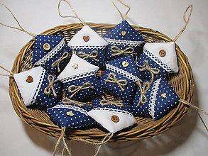 Dekorácie - Domčeky modré-mini - 8749729_