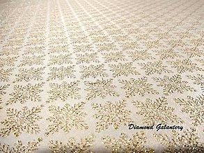 Textil - Látka pretkávaná lurexovou niťou - vločky - cena za 10 cm - 8749305_