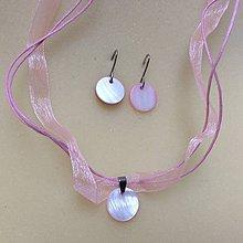 Sady šperkov - sada  s ružovými perleťami - 8745223_