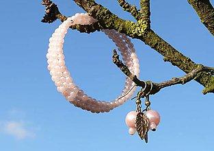 Sady šperkov - Ružové pastelové perličky - 8748075_
