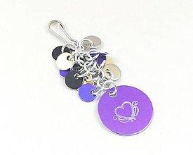 Kľúčenky - Přívěšek na kabelku, klíče se srdíčkem - 8744561_