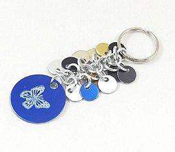 Kľúčenky - Přívěšek ke kabelce, klíčům s motýlkem - 8744600_