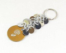 Kľúčenky - Přívěšek ke kabelce, klíčům zlatý - 8744604_