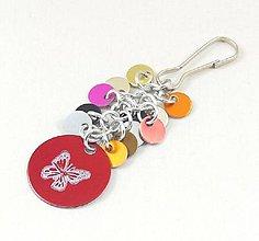 Kľúčenky - Přívěšek ke kabelce, klíčům červený - 8744615_