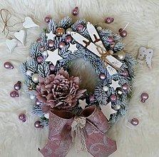 Dekorácie - Vianočný vintage veniec fialový - 8748194_