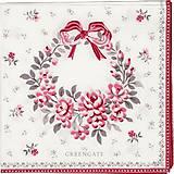 - Servítka  G61-Flora white  - 8748967_