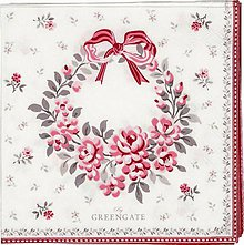 Papier - Servítka  G61-Flora white - 8748967_