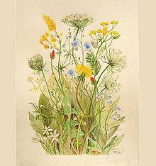 Obrazy - Maľovaný obraz lúčne kvety - 8746205_